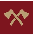 The crossed axes icon Axe and hack symbol Flat vector image