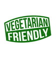 vegetarian friendly sign or stamp vector image vector image