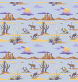 vintage seamless desert pattern landscape cowboy vector image vector image