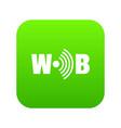 wifi icon green vector image