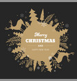 winter background merry christmas abstract vector image vector image