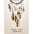 with American Indians dreamcatcher vector image vector image
