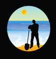 worker on the beach paradise part two vector image