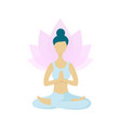 young woman meditating in lotus yoga position vector image