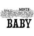 your little gourmet baby s fifth month guide text vector image vector image