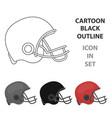 american football helmet icon in cartoon style vector image