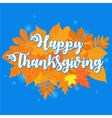 Happy Thanksgiving Day 6 vector image