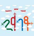 2018 happy new year plane vector image