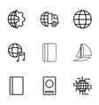 9 international icons vector image vector image