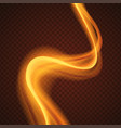 abstract bright light streaks on a dark background vector image