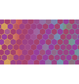 Abstract colorful hexagonal geometric background vector image vector image