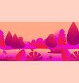 abstract multicolored fantasy forest with river vector image vector image