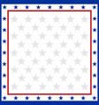 american flag symbols border vector image vector image