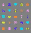 Art and creation color icons on gray background vector image vector image