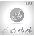 Arts outline icon vector image vector image