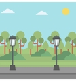 Background of park with streetlight vector image vector image