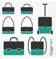 bag icons set vector image