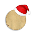 Banner With Cap Of Santa Claus vector image vector image
