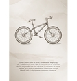 Bike Vintage Label Logo Frame Brochures vector image
