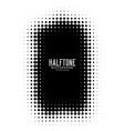 black halftone frame background vector image vector image
