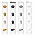 cheeseburger bun flour and other web icon in vector image vector image