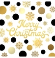 Christmas lettering with glitter gold confetti vector image