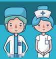 cute medical team cartoons vector image