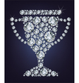 Diamond trophy cup vector image vector image