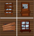 different conditions of windows vector image