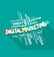 digital marketing word cloud vector image vector image