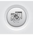 Discount Icon Grey Button Design vector image vector image