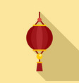 dragon chinese lantern icon flat style vector image vector image