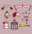 england soccer supporter gear set vector image
