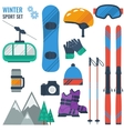 Equipment for winter recreation vector image