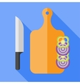 flat kitchen set vector image