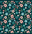 floral seamless pattern design for paper vector image