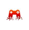 game pixel logo vector image