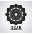 gear cog machine part design vector image vector image