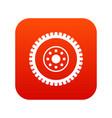 gear wheel icon digital red vector image vector image