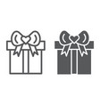 gift line and glyph icon package and present vector image vector image