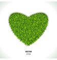 green grass heart vector image vector image