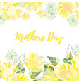 greeting card of the mothers day vector image vector image