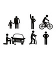 group of people doing different activities vector image