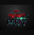 halloween carnival background black logo concept vector image vector image