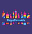 happy hanukkah hanukkah candles nine multi vector image