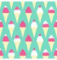 Ice Cream Cones Background vector image