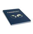 international passport 3D vector image