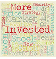 Investment Strategy The Investor s Creed text vector image vector image
