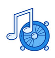 listening to music line icon vector image