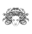medusa drawn in tattoo style vector image